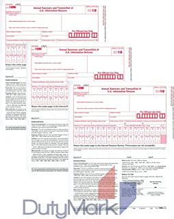 1096 Transmittal 2019 Tax Forms 25 Pack of 1096 Summary Laser Tax Forms - 2019 of 1096 Forms