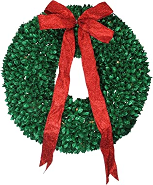 Northlight 30 Inch Pre Lit Wreaths/Clear Lights, Green