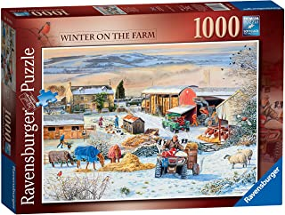 Ravensburger Winter on The Farm Jigsaw Puzzle 1000 Piece for Adults and Kids Age 12 and Up