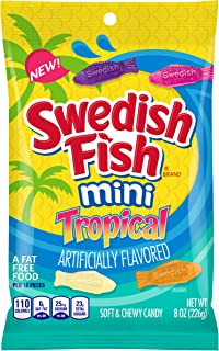 Swedish Fish Mini Tropical Fat Free Candy, 8 oz