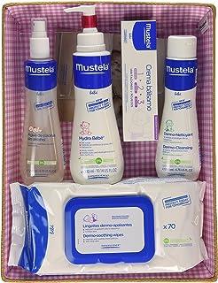 Mustela Bébé - Canastilla Rosa (Agua de colonia + Hydra Bébé + Vitamin barrier cream + Dermo Nettoyant + Toallitas)