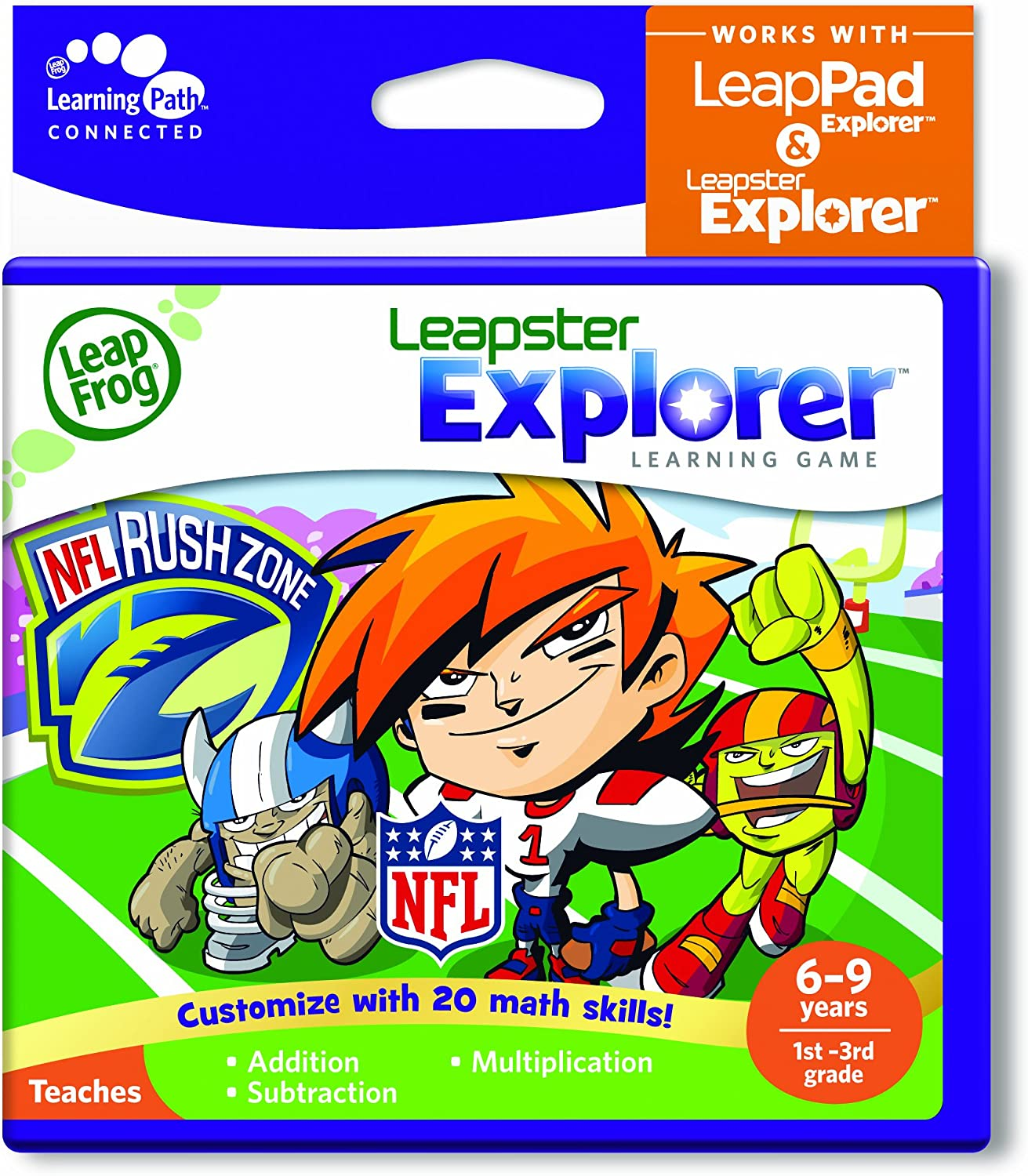 Max 55% OFF LeapFrog Explorer Learning Game: NFLRush works LeapPa Bombing free shipping Zone with