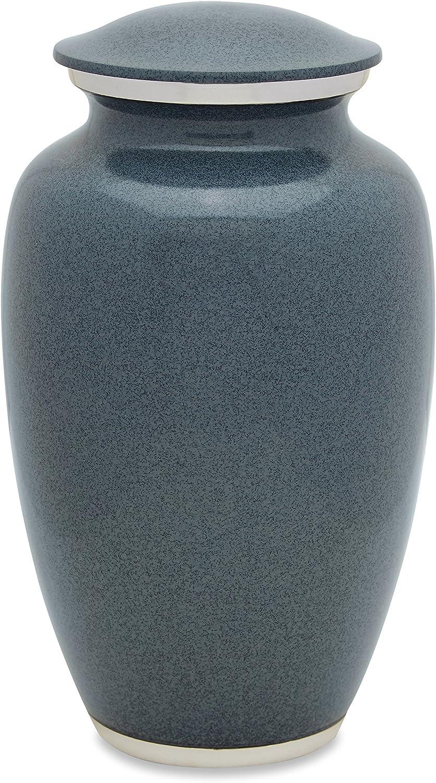 UrnsDirect2U Grey Wolf Granite Adult Cremation Urn