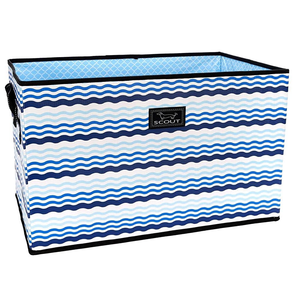 SCOUT JUNQUE Trunk Extra Large Organizer for Car and Home, Collapsible Storage Bin with Reinforced Bottom (Multiple Patterns Available)