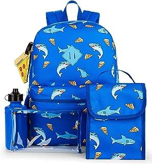 Back to School 5 Piece Pizza Shark Backpack Set
