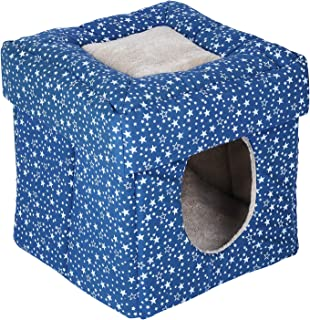 Naaz Pet Supplies Fabric Pet House Hut Shape for Small Size Dogs (Colour May Vary)