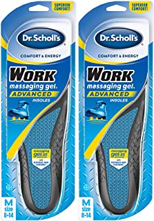 Dr. Scholl's WORK Insoles (Pack 2) // All-Day Shock Absorption and Reinforced Arch Support that Fits in Work Boots and More (for Men's 8-14, also available for Women's 6-10)