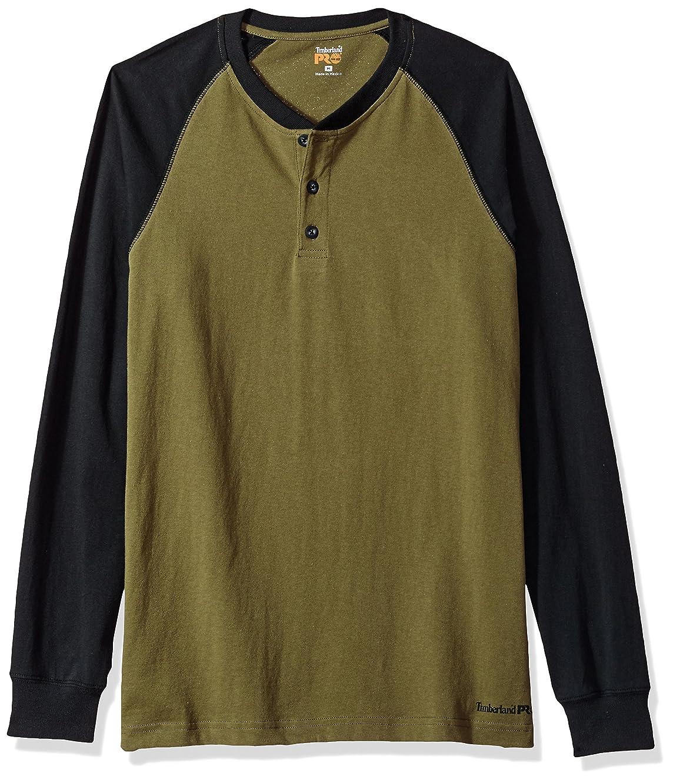 Timberland PRO Men's Cotton Core Long-Sleeve Henley Shirt