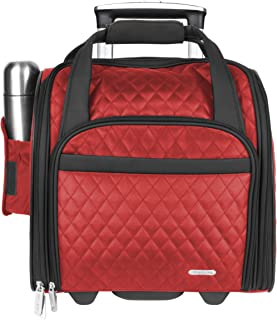 Travelon Wheeled Underseat Carry-On with Back-Up Bag, Red (Red) - 6454-Red-One Size