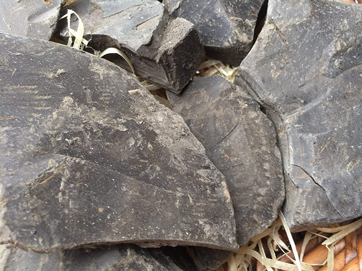 Black Edible Clay Chunks (lump) Natural for Eating (Food), 1 lb (450 g)