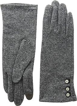 Three-Button Touch Gloves