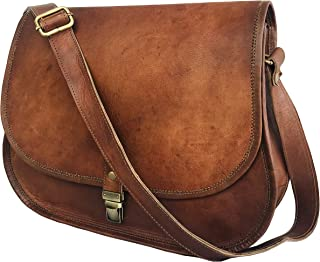 cuero 14 Inch Leather Cross Body Satchel Ladies Women Shoulder Bag Tote Travel Purse