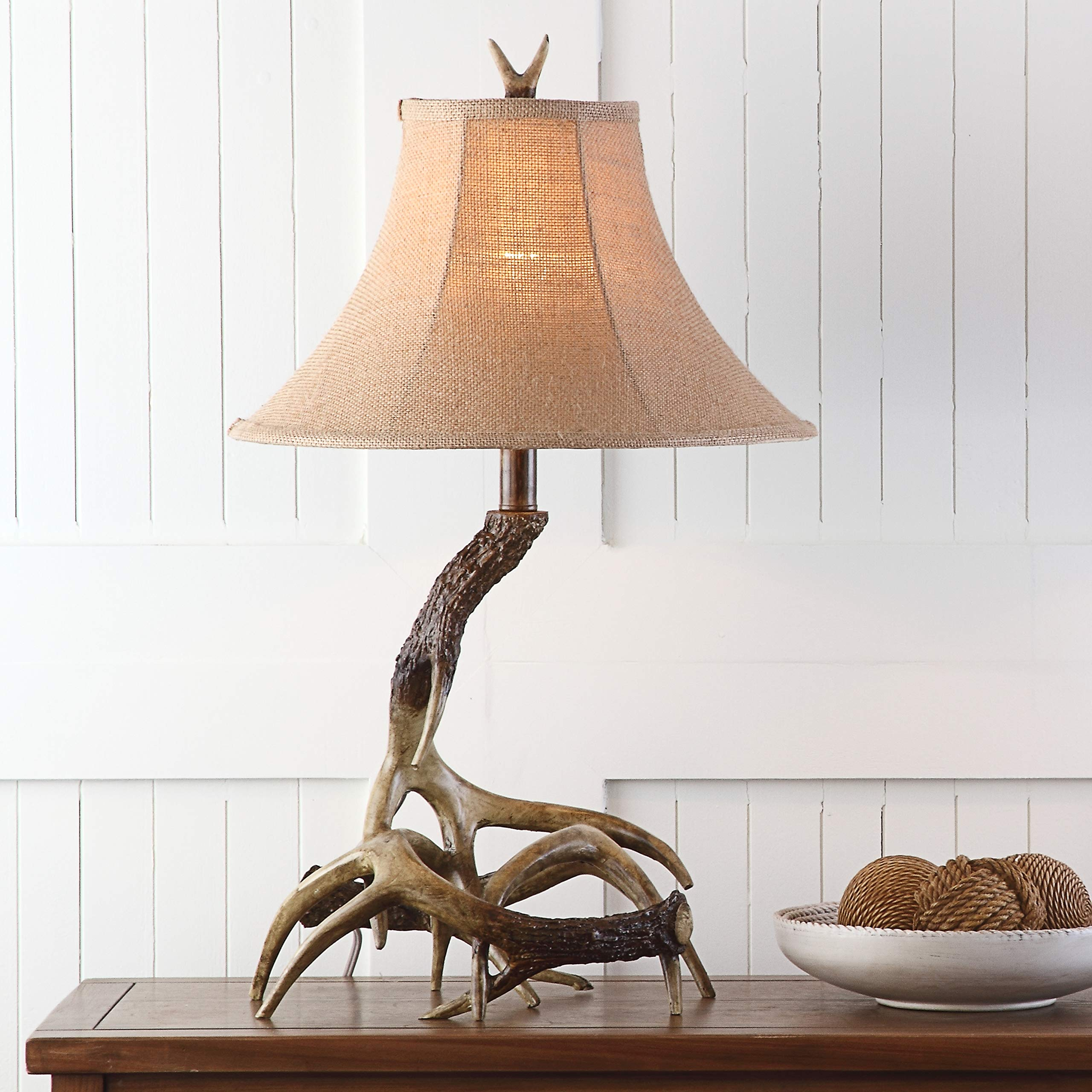 Safavieh LITS4140A Lighting Sundance Brown Faux Antler 25.5-inch (Bulb Included) Table Lamp