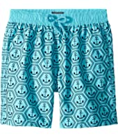 Vilebrequin Kids - Ancre De Chine Anchor Printed Trunks (Toddler/Little Kids/Big Kids)