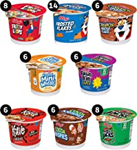 Kellogg's, Breakfast Cereal in a Cup, Assortment Pack, Bulk Size (Pack of 60 Cups)