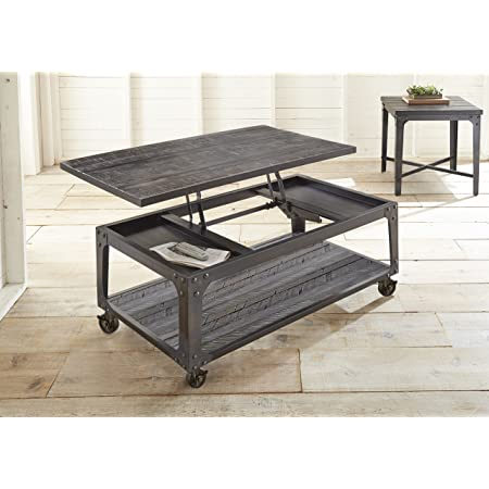 Steve Silver Sherlock Lift Top Coffee Table With Casters In Tobacco Furniture Decor