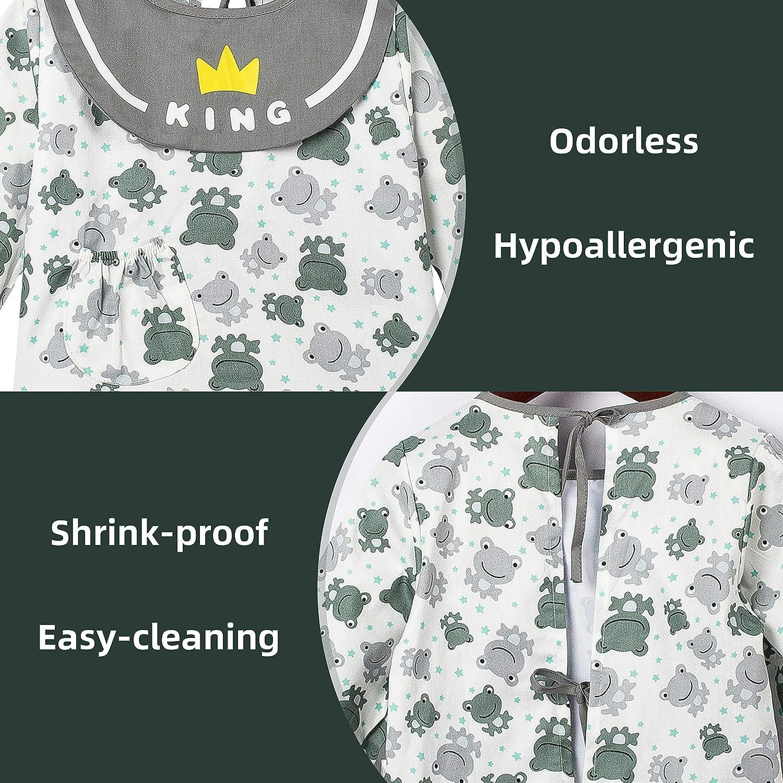 Unisex Waterproof Long Sleeve Bib Apron for Kids Toddler COTTON FAIRY Baby Burp Jacket