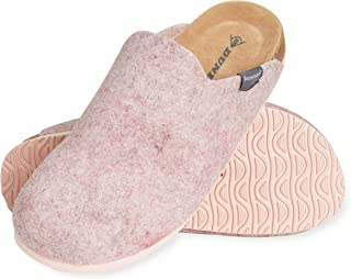 Dunlop House Slippers for Women, Memory Foam Slipper for Womens, Size 3-8, Anti Slip Indoor Shoes, Cosy Felt Sleepers, Com...