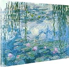 pink water lilies claude monet