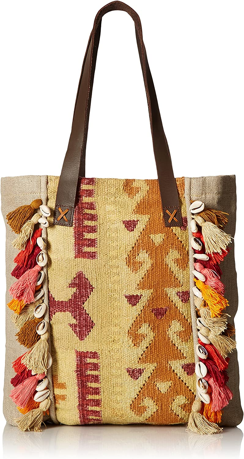 'ale by alessandra Women's Jaipur Cottonlinen Blend Rug Tote