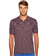 Missoni - Fiammato Rigato Short Sleeve Knit Polo