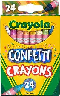 Crayola Confetti Crayons, Multi Color Crayons, Kids Coloring Supplies, 24 Count