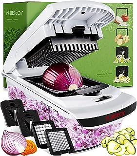 خردکن و غذاهای دیواری Fullstar Cutter-Veggie Spiralizer Slicer Vegetable Pro Food مواد غذایی ، 1 قطعه سفید سیاه