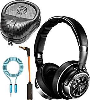 """1MORE H1707 Triple Driver Over-Ear Headphones Bundle with 3.5mm to 1/4"""" Adapter, Slappa Full-Sized Headphone Case, iFi Ear Buddy Audio Attenuator 3.5mm, and Blucoil 6' 3.5mm Extension Cable"""