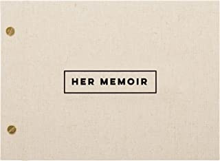C.R. Gibson 'Her Memoir' Photobook 60 pgs, 9.6'' W x 7'' H