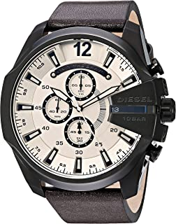 Diesel Men's DZ4422 Mega Chief Brown Leather Watch
