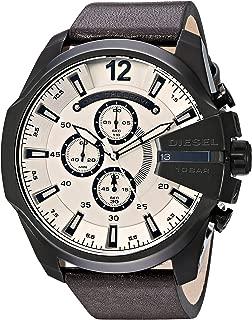 Men's DZ4422 Mega Chief Brown Leather Watch