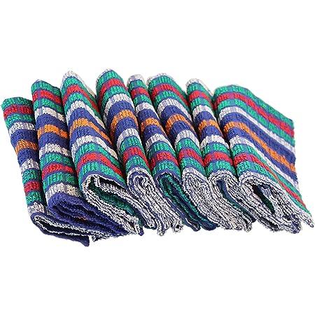 Abeigestar Torchons de Cuisine 100/% Coton,Broderie Dessin Lot de 12 Torchons Multicolore Lasa