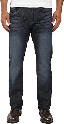 Buffalo David Bitton Six Straight Leg Jeans in Rigid and Slightly Sanded