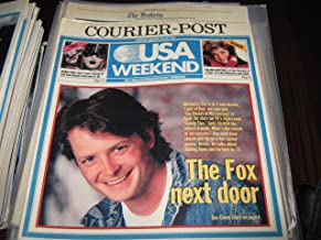 Michael J. Fox (The Fox Next Door , Valerie Bertinelli , New Orleans...Mardi Gras , Camden Courier -Post Newspaper USA Weekend Magazine, February 20-22 , 1987)
