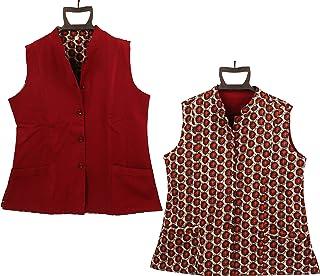 Indtresor Indian heritage Fabric Reversible Cotton Jacket.
