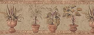 Brown Stone Green Plants Wallpaper Border6313 TK