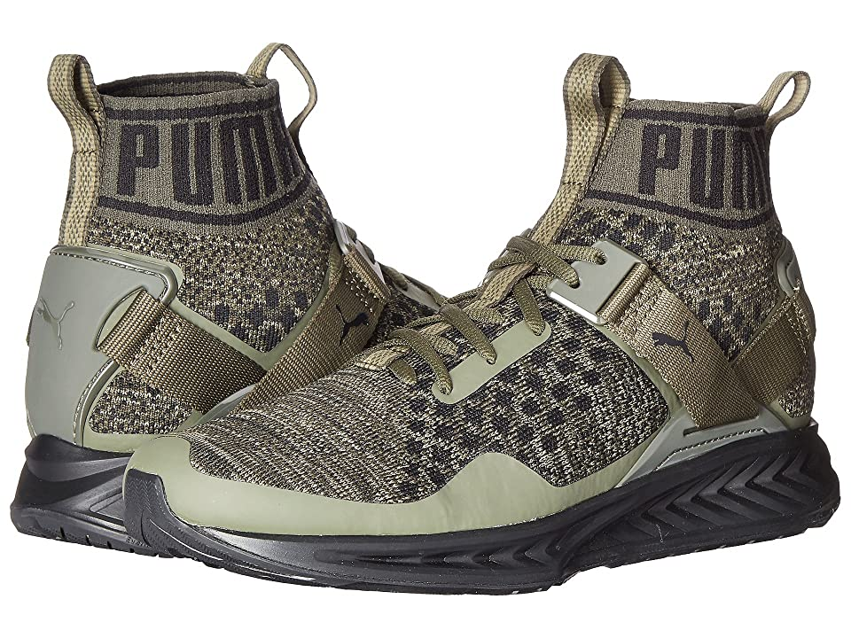 PUMA Ignite evoKNIT (Burnt Olive/Forest Night/Puma Black) Men
