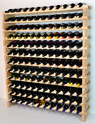 Amazon Com 120 Bottles Above Wine Racks Cabinets Storage