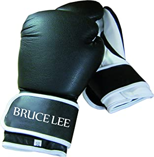 Unisex Adulto Talla /Única Tunturi 14BLSBO055 Speedball de Pie con Lanza Bruce Lee Negro