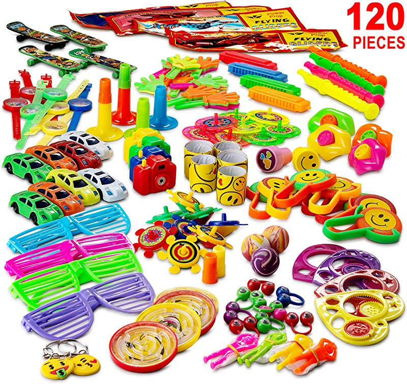 Reca 120 Kids Prizes Party Favors For Kids Party Birthday Party Toy Assortment Teachers And Parents Rewards Carnival Prizes Pinata Fillers Stocking Stuffers