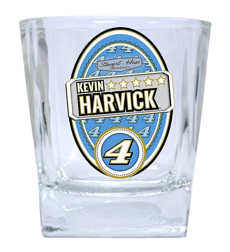 NASCAR #4 Kevin Harvick 12oz Glass Tumbler Set-NASCAR Short Glasses SET OF 2