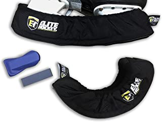 Hockey Skate Guards with Sharpening Stone (Bundle) - Elite Hockey 700XS PRO Skate Guard - Extreme Walking Soaker