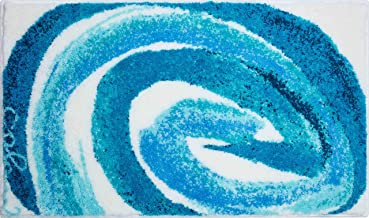 Grund Designer Bath Mat COLANI, Ultra Soft and Absorbent, Anti Slip, 5 Years Warranty, Colani 42, Bath Mat 60x100 cm, Turq...