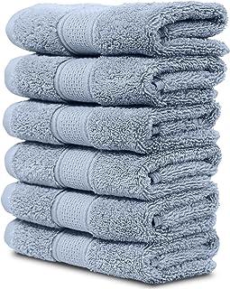 "Maura 6 Piece Washclothes Set. Extra Large 13""x13"" Premium Turkish Towels..."
