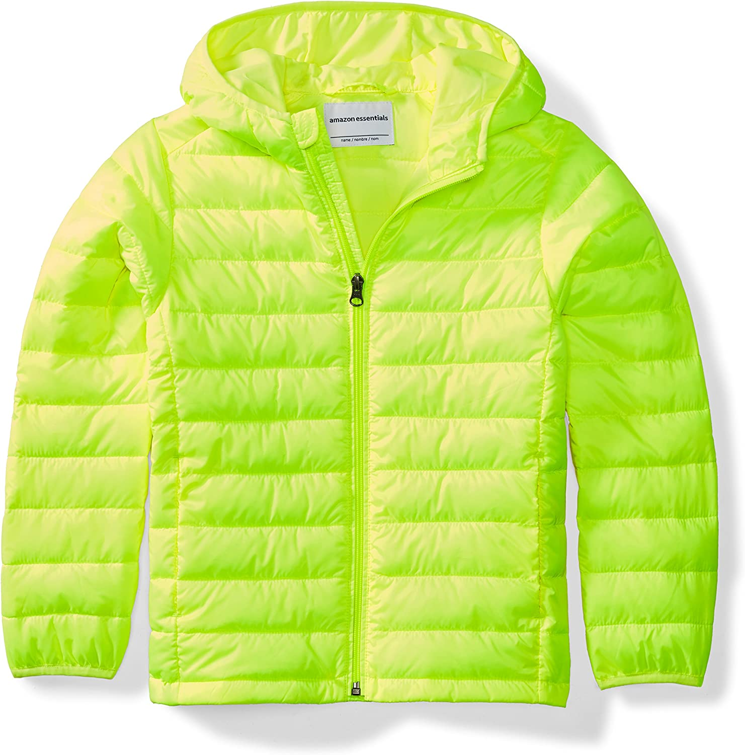 Essentials Boys Light-Weight Water-Resistant Packable Hooded Puffer Jackets Coats