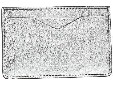 Alexander McQueen Metallic Ribcage Card Holder