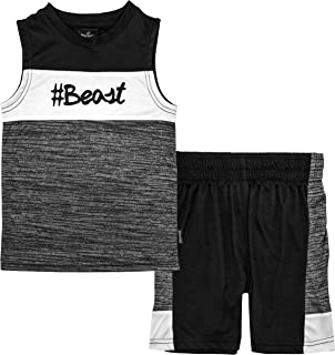 Spalding Boys Athletic Graphic Crewneck T Shirt Short Seeve Top and Shorts Gym Set
