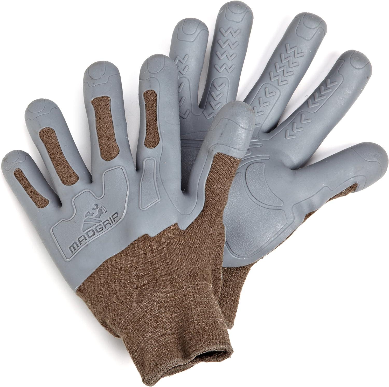 Mad Grip F100 Pro Palm Knuckler Gloves,Black//Black,Large//X-Large New