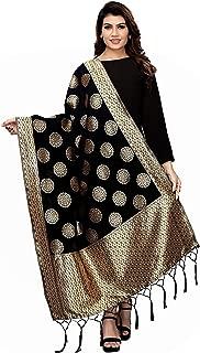 Jaanvi fashion Women's Banarasi Silk Woven Dupatta(Zari Work)