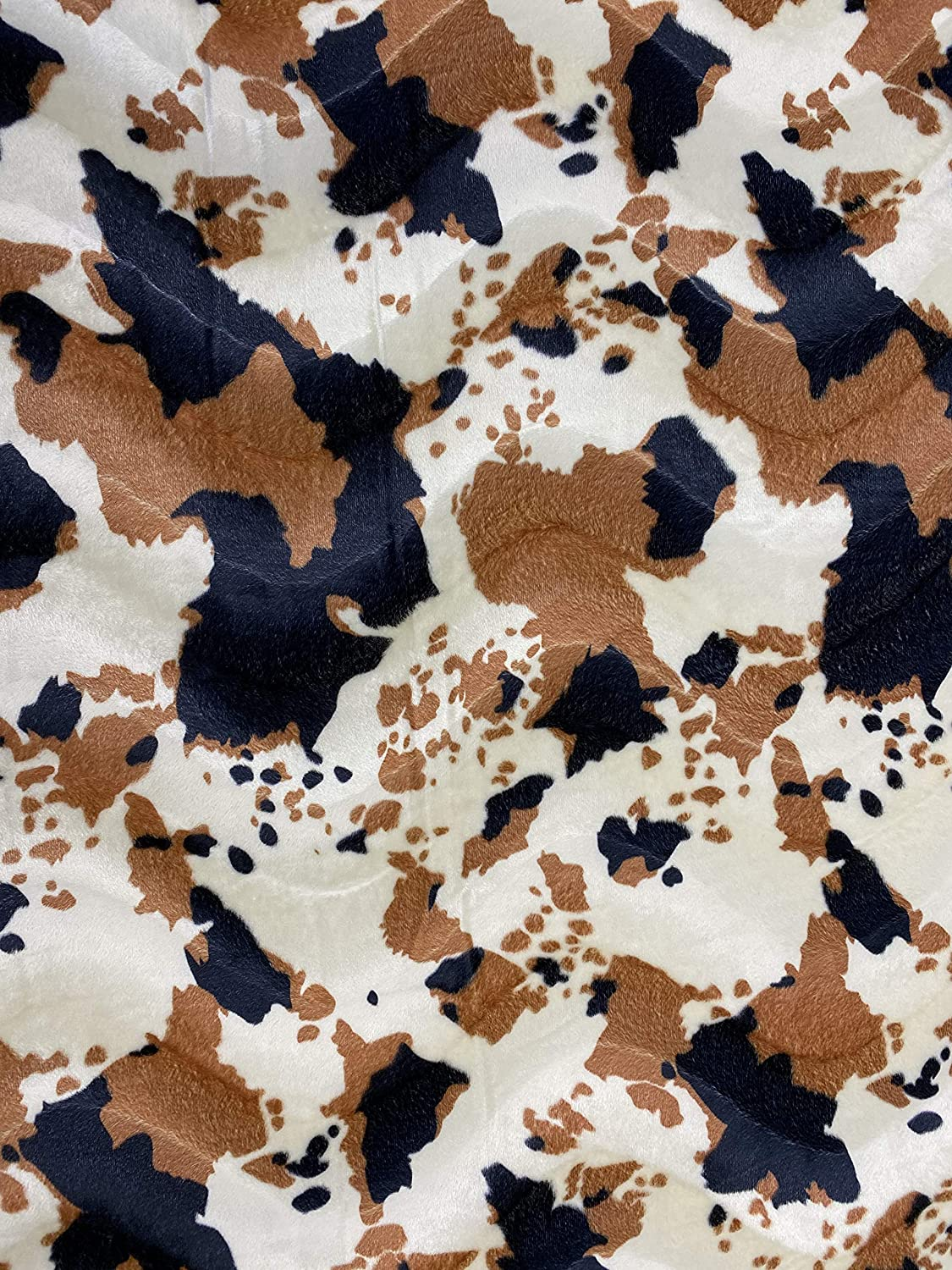 low-pricing FabricLA Velboa S-Wave Short Pile Cow Fabric - Inch Wi 60